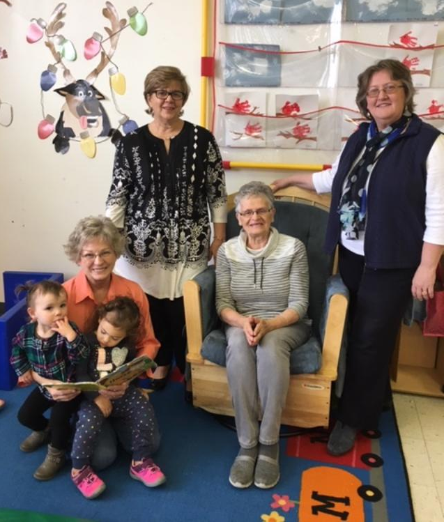 Pictured above (left to right), Shirley George, Keystone Grandparent; Sue James, Program Coordinator; Judy Lininger, Keystone Grandparent; and Traci Kline, Director of the Franklin County Area on Aging Agency