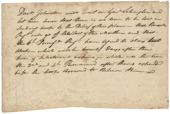 Letter from Anthony Wayne detailing orders to Johnston.