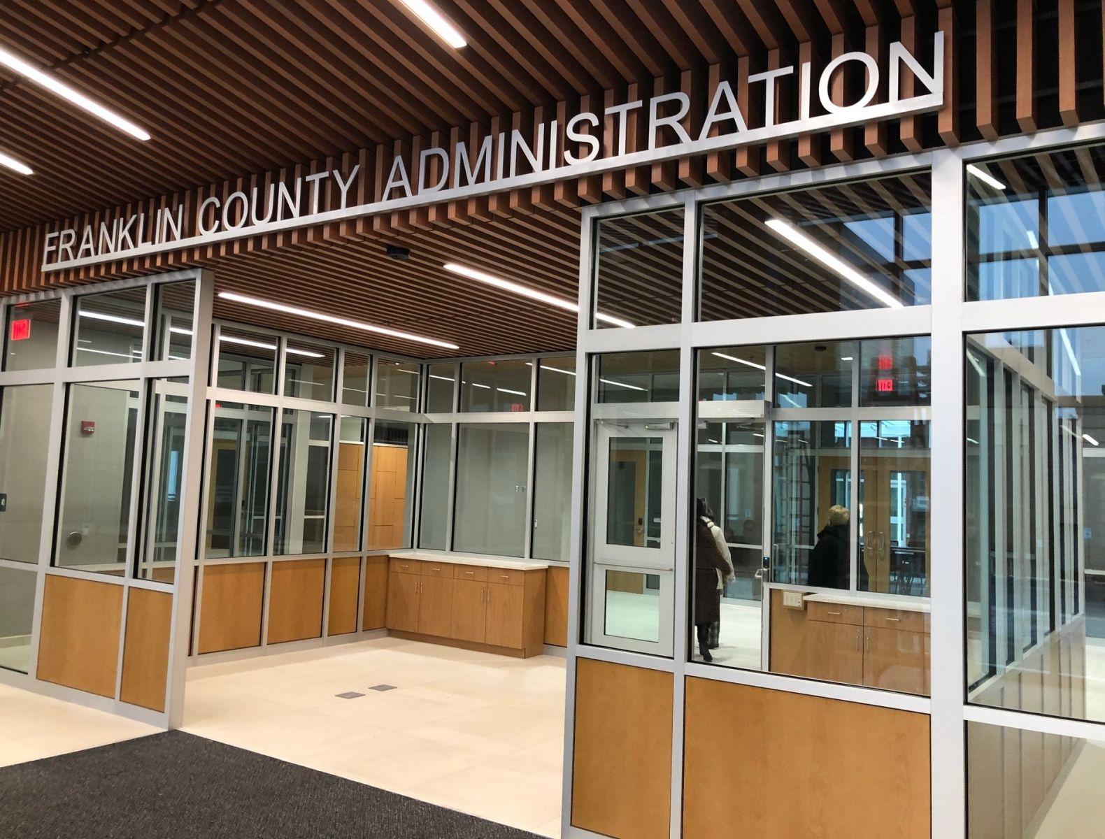 Franklin County Administration Building lobby, 1-26-2021