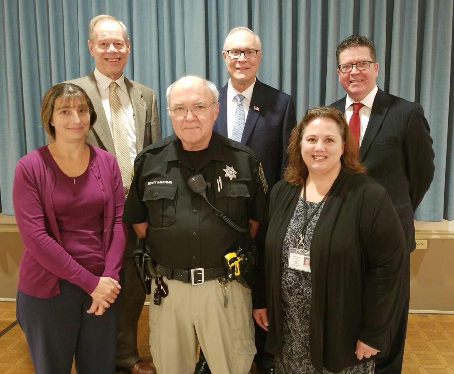 15 Years of Service Pictured above (left to right): top row- Commissioner Bob Ziobrowski, Commissioner Bob Thomas, Commissioner Chairman Dave Keller; bottom row- Ellen Eckert, William Kauffman, Kimberly Lucas Missing from photo:  David Eckert