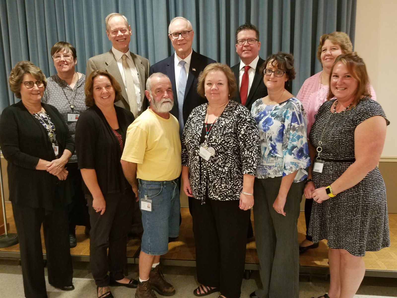 20 Years of Service Pictured above (left to right): top row- Julie Mentzer, Commissioner Bob Ziobrowski, Commissioner Bob Thomas, Commissioner Chairman Dave Keller, Karen Nye; bottom row- Cindy Kean, Minnie Goshorn, Dan McClure, Emily Eberly, Danielle Campbell, Angela Mackley  Missing from photo: Tammy Duncan, Mark Gilliam, David King, Jodi Martin, Todd McIntire, Donna Poe, Sharon Winter.