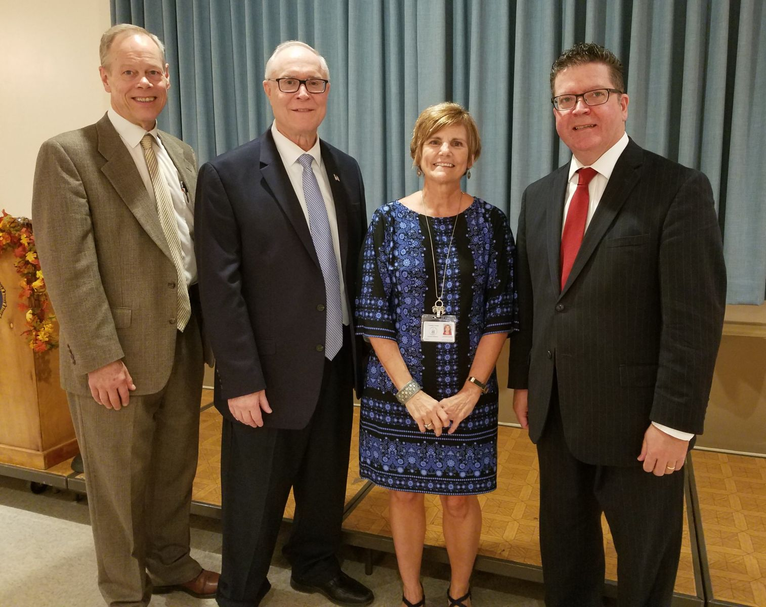 35 Years of Service Pictured above (left to right): Commissioner Bob Ziobrowski, Commissioner Bob Thomas, Lucinda (Sue) Grove, Commissioner Chairman Dave Keller
