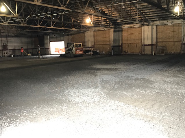 Early in the renovation process, dirt floor in June 2019 – Archives Facility Storage