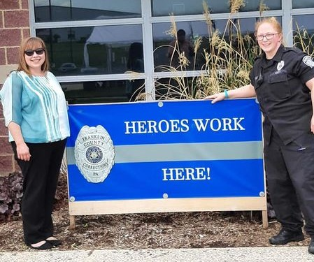 Above (left to right): Correctional Professional of the Year – Deputy Warden Michelle Weller and Correctional Officer of the Year – Officer Sara Holtz