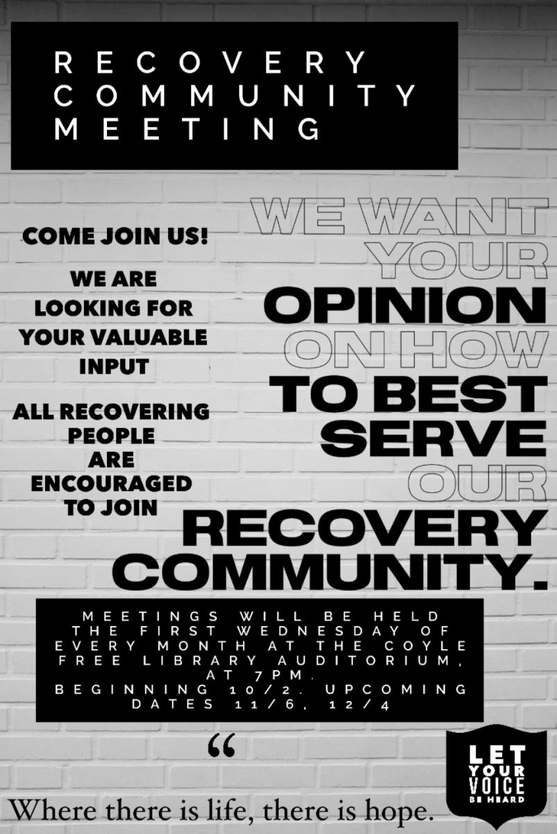 Recovery community meeting flyer