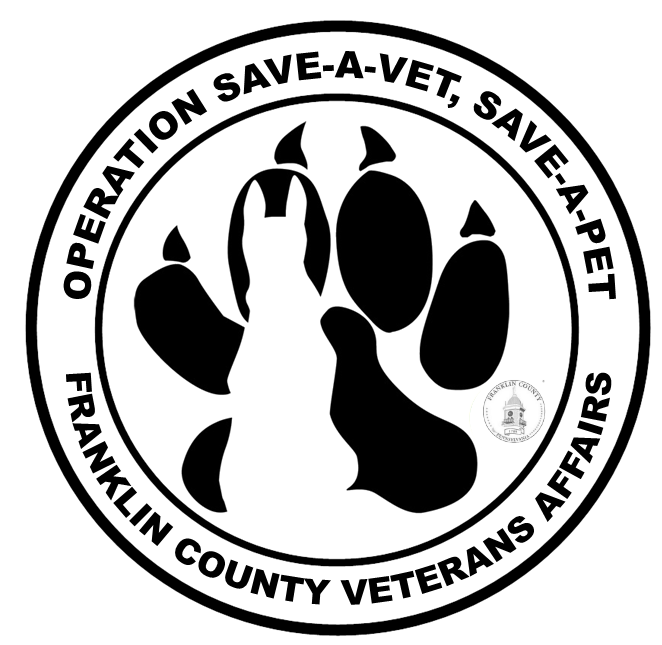 Save a vet, save a pet seal