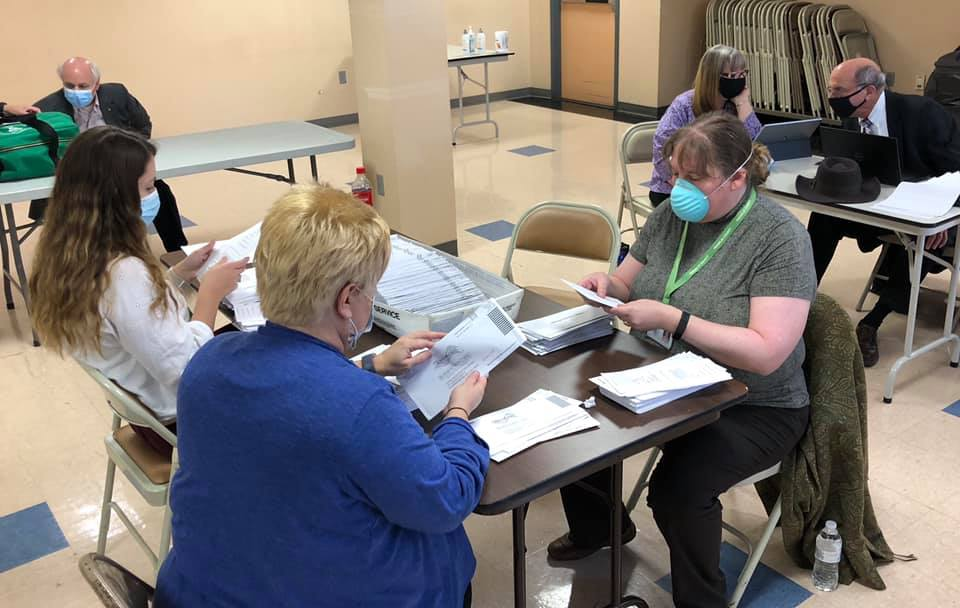 Pre-canvassing began Tuesday morning with observers from the local Republican and Democratic parties present.