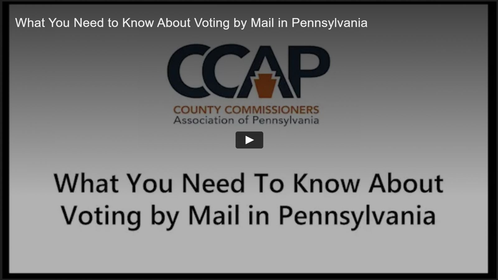 What you need to know about voting by mail in Pennsylvania CCAP County Commissioners Association of Pennsylvania