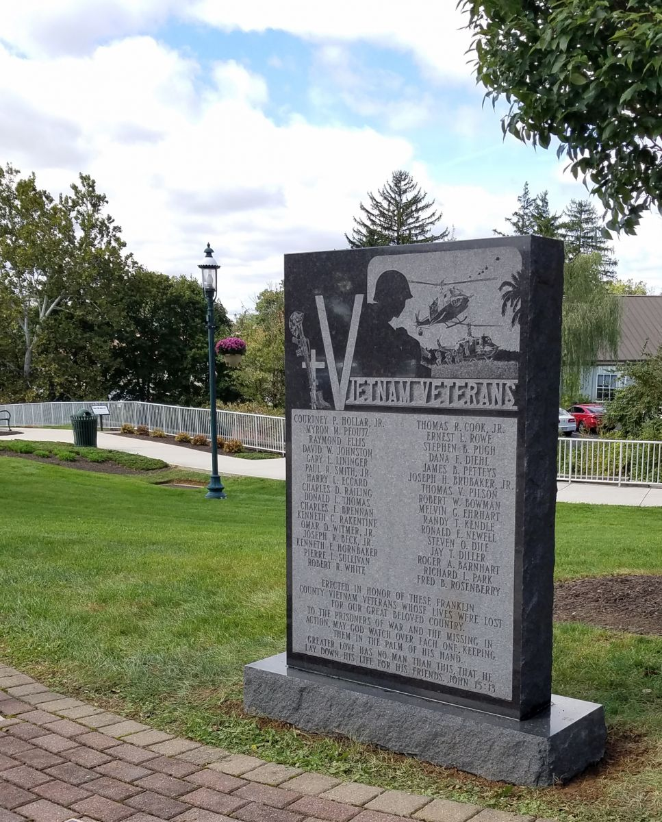 The Vietnam Veterans Memorial is placed in its new location in Fort Chambers Park.