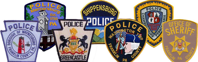 Local law enforcement badges
